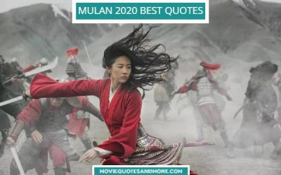 Disney's Mulan 2020 Movie Quotes – 'I will bring honor to us all.'
